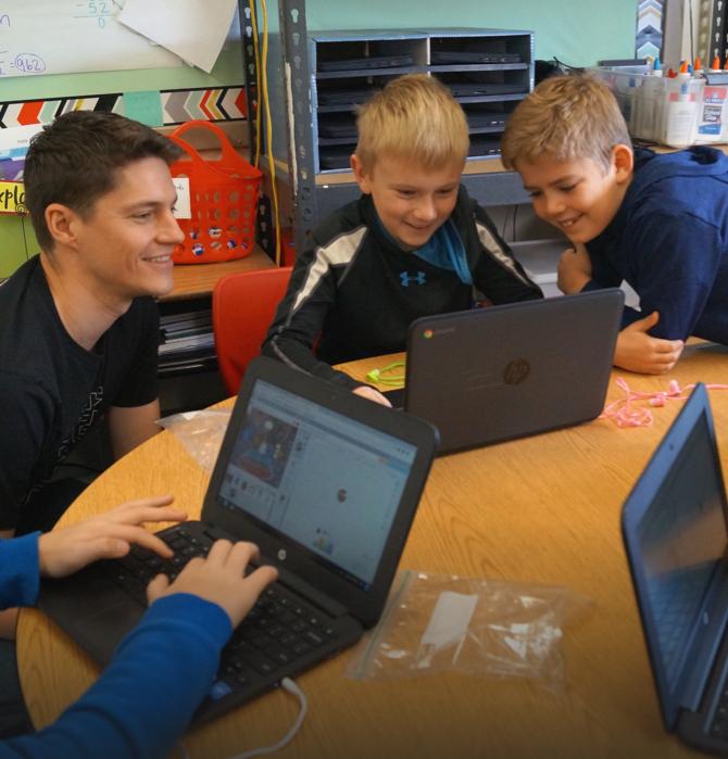 Hour of code at Washington Elementary School